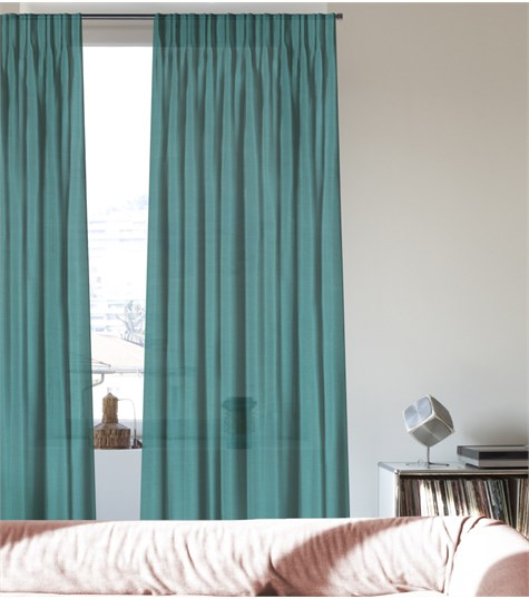 Gordijn - Dubbele Plooi - Rome - Turquoise
