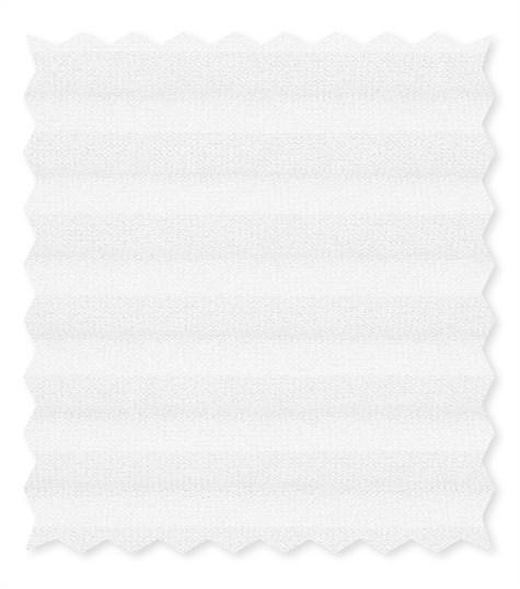 Energy - 25mm - Kleurstaal plissegordijnen - Bright white - C2001