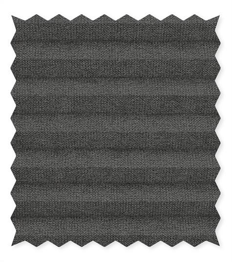Energy - 25mm - Kleurstaal plissegordijnen - Jet black - C2201