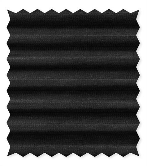 Energy - 25mm - Kleurstaal plissegordijnen - Black ink - C4201
