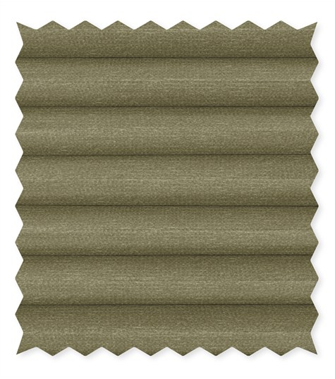 Pure Safe - Plisse dupligordijn kleurstaal - Fog Green C4601