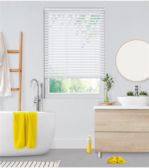 Sensations - PVC jaloezie Deco 50mm - Zuiver Wit 6016D