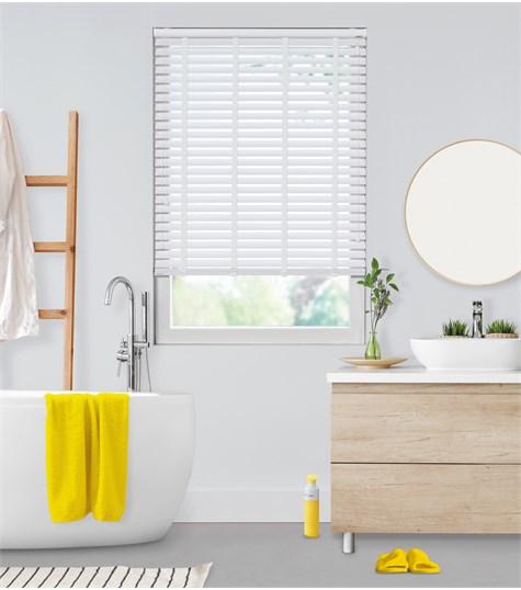 Sensations - PVC jaloezie Deco met ladderband 50mm - Zuiver Wit 6016D