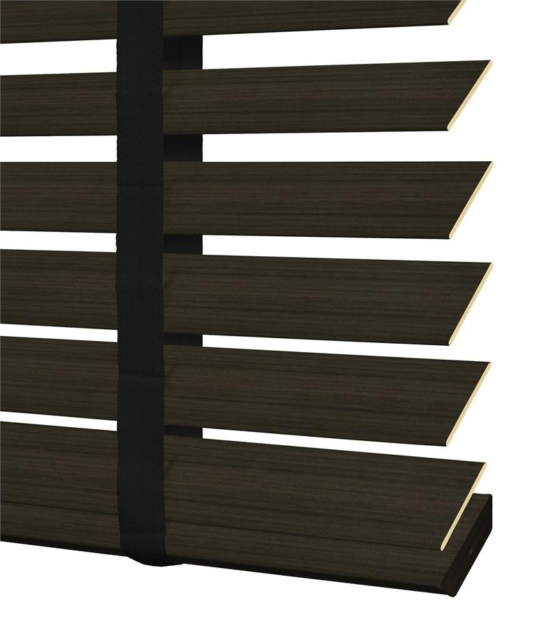 Sensations pvc jaloezie deco met ladderband 50mm donker walnoot 6923d veneta raamdecoratie - Deco donker gang ...