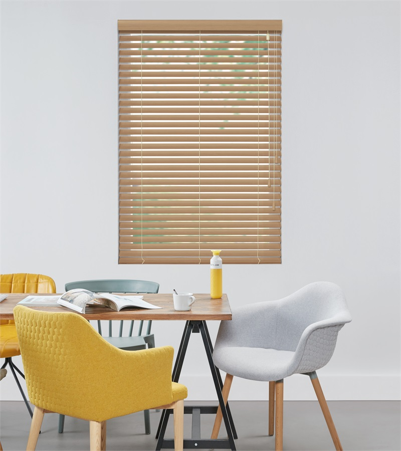Harmony - Houten jaloezie Privacy 50mm - Licht Eiken ND114 - Veneta ...