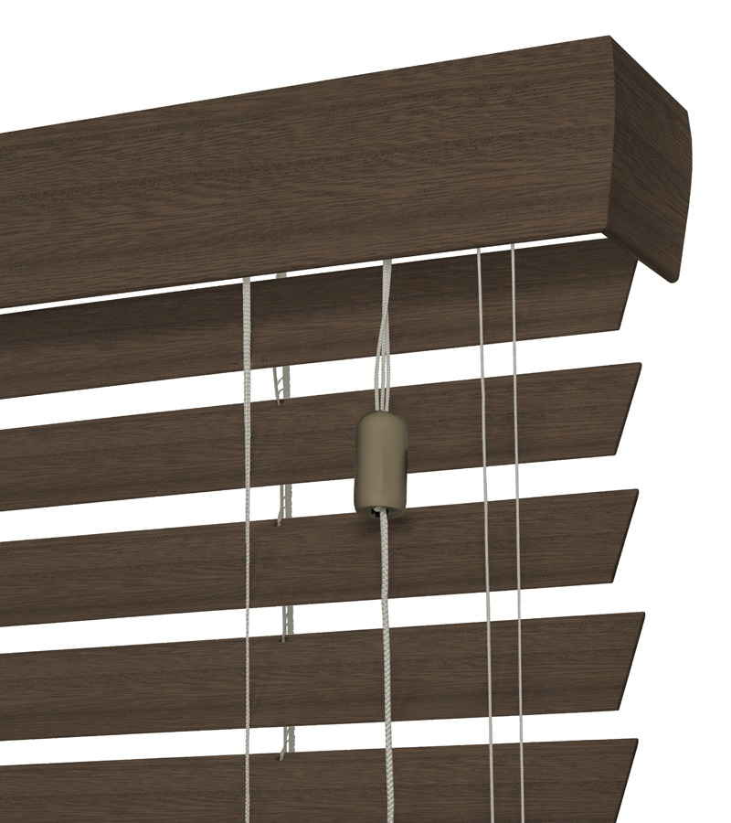 Harmony houten jaloezie privacy 50mm grijs bruin nd220 for Bruin grijs interieur