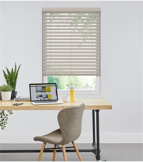 Harmony - Houten jaloezie Privacy 63mm - Taupe  ND080