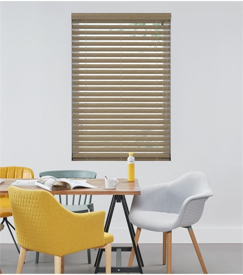 Harmony - Houten jaloezie Privacy 63mm - Licht Grijs ND108