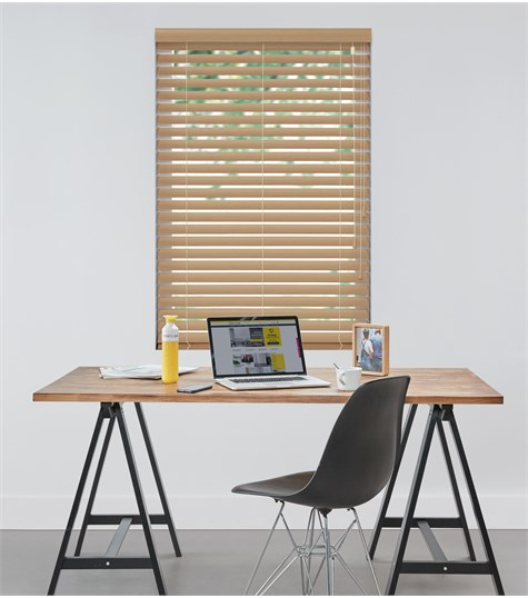 Harmony - Houten jaloezie Privacy 63mm - Licht Eiken ND114