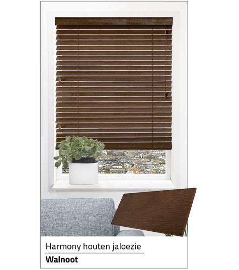 Harmony - Houten jaloezie Privacy 63mm - Walnoot ND229