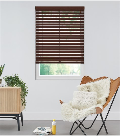 Harmony - Houten jaloezie Privacy 63mm - Donker Kersen ND233