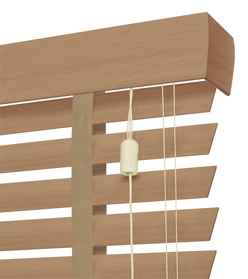 Harmony houten jaloezie deco met ladderband 50mm licht eiken nd114 - Houten deco ...
