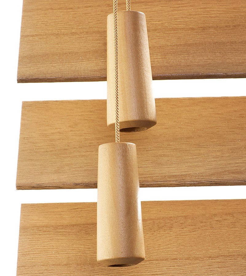 Harmony houten jaloezie deco met ladderband 50mm eiken nd205 - Houten deco ...
