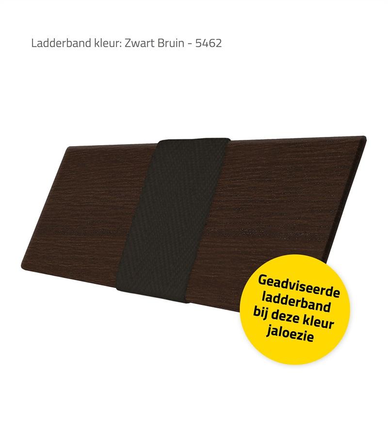 Harmony houten jaloezie deco met ladderband 63mm donker walnoot nd221 - Houten deco ...