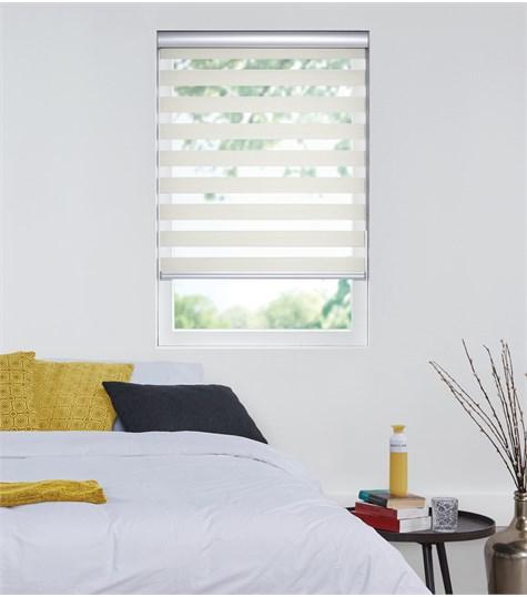 Designer - Duo Rolgordijn - Verduisterend - Off White VEFD23