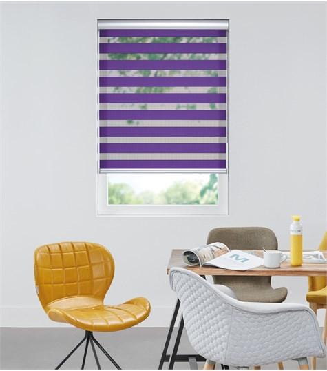 Colors - Duo Rolgordijn - Semi-transparant - Paars VELX73