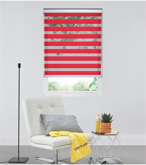 Colors - Duo Rolgordijn - Semi-transparant - Rood VELX78