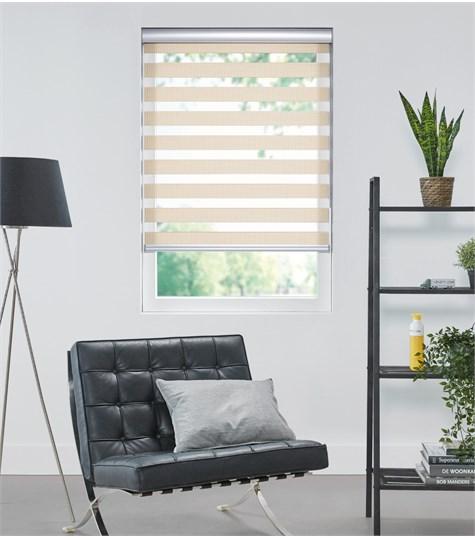 Bamboo - Duo Rolgordijn - Semi-transparant - Beige VESE31