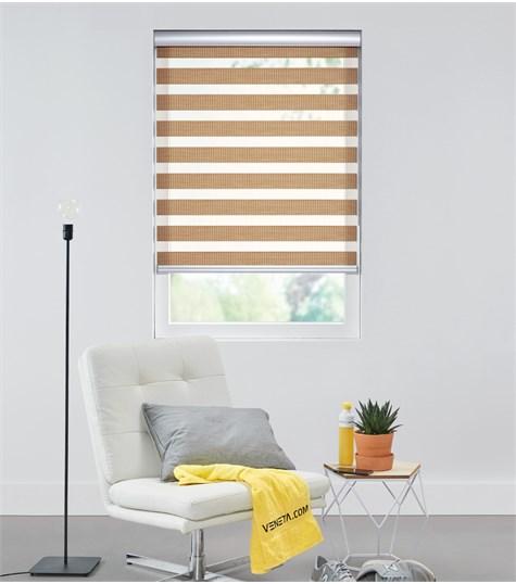 Bamboo - Duo Rolgordijn - Semi-transparant - Roest VESE36