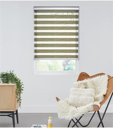 Bamboo - Duo Rolgordijn - Semi-transparant - Groen VESE68