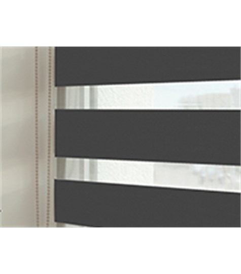 Duo rolgordijnen - Designer kleurstaal - Antraciet - 8808