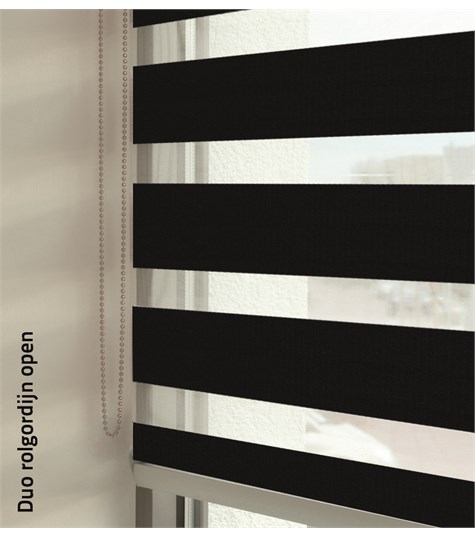 Duo rolgordijnen - Entry kleurstaal - Zwart 88102