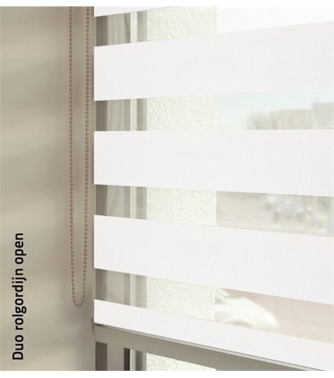 Duo rolgordijnen - Designer kleurstaal - Sneeuw Wit 88160