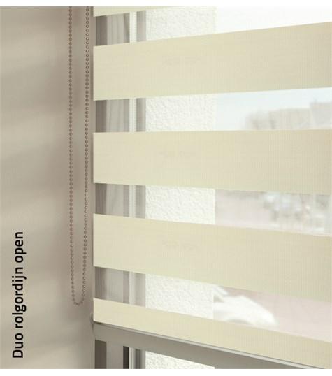Duo rolgordijnen - Designer kleurstaal - Creme Wit 88161