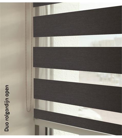 Duo rolgordijnen - Designer kleurstaal - Antraciet 88164