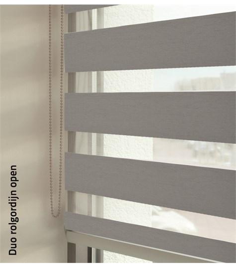 Duo rolgordijnen - Designer kleurstaal - Metallic Grijs 88165