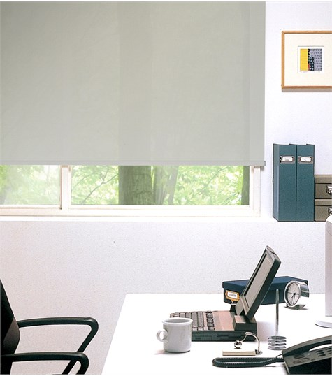 Authentics - Rolgordijn Semi transparant kleurstaal - Creme Wit AST7302