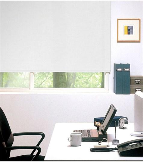 Authentics - Rolgordijn Semi transparant kleurstaal - Gebroken Wit AST7304