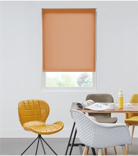 Authentics - Rolgordijn Semi Transparant - Pastel Oranje AST7242