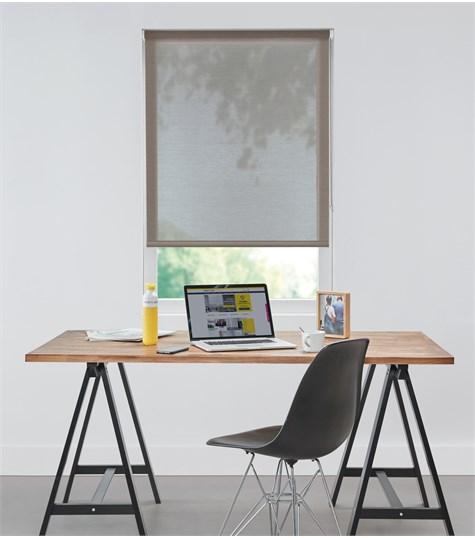 Authentics - Rolgordijn Designer Semi transparant - Voile Bruin DET3009