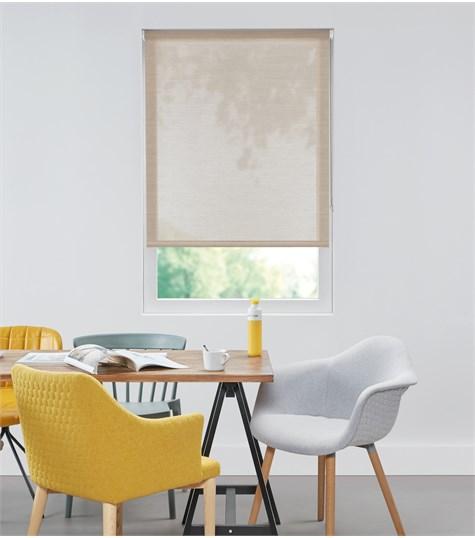 Authentics - Rolgordijn Designer Semi transparant - Voile licht Bruin DET3011