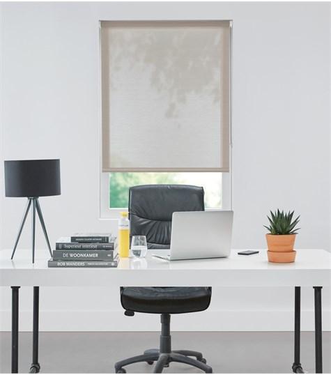 Authentics - Rolgordijn Designer Semi transparant - Voile Beige DET3012