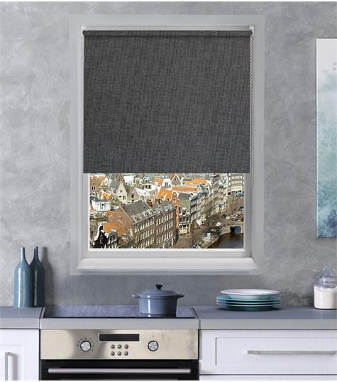 Authentics - Rolgordijn Designer Verduisterend - Grijs/Blauw DEVE4029