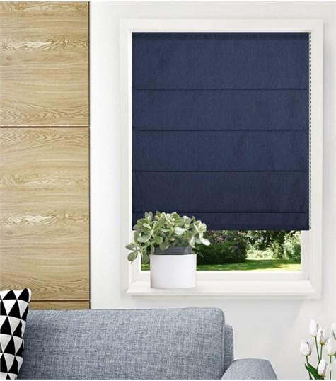 Panache vouwgordijn - Navy blue