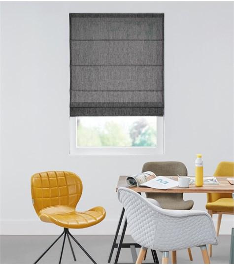 Panache - Vouwgordijn - Voile Colors Zwart VVOCG10
