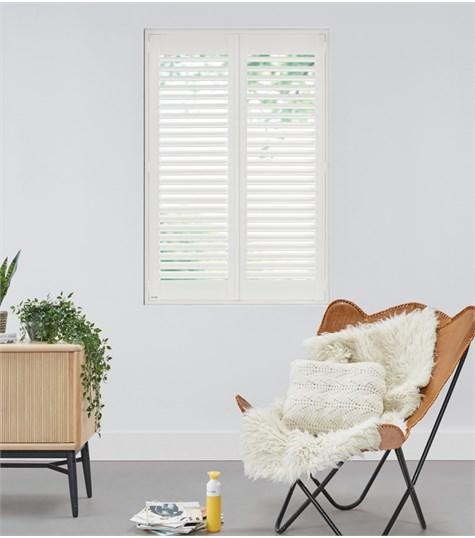 Woodlore Plus - Full height shutter 63mm - Silk White WP003