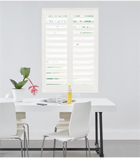 Woodlore Plus - Full height shutter 114mm - Silk White WP003