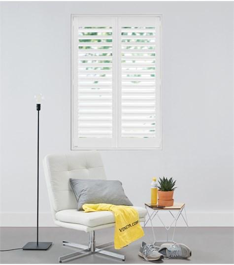 Woodlore Plus - Full height shutter 89mm - Pure White WP001