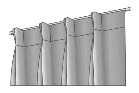 bij de keuze voor een dubbele plooi wordt de stof twee keer ingeplooid het gordijn krijgt een rijke en volle uitstraling en valt mooi