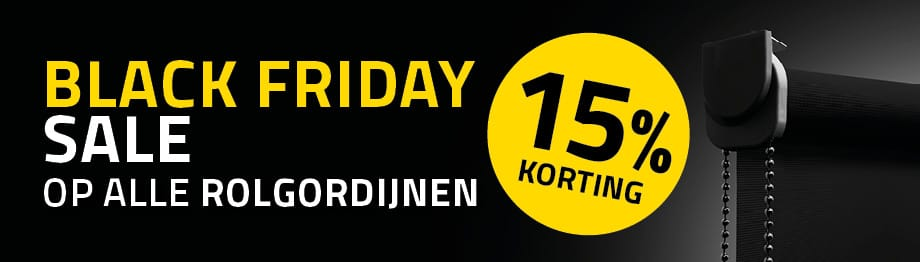 Black Friday Sale: -15% op rolgordijnen